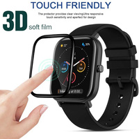 Protective Film Cover For Huami Amazfit GTS / GTS2 Smartwatch Full Screen Protector gts 2 Case 3D Curved Edge Soft Fiber Glass