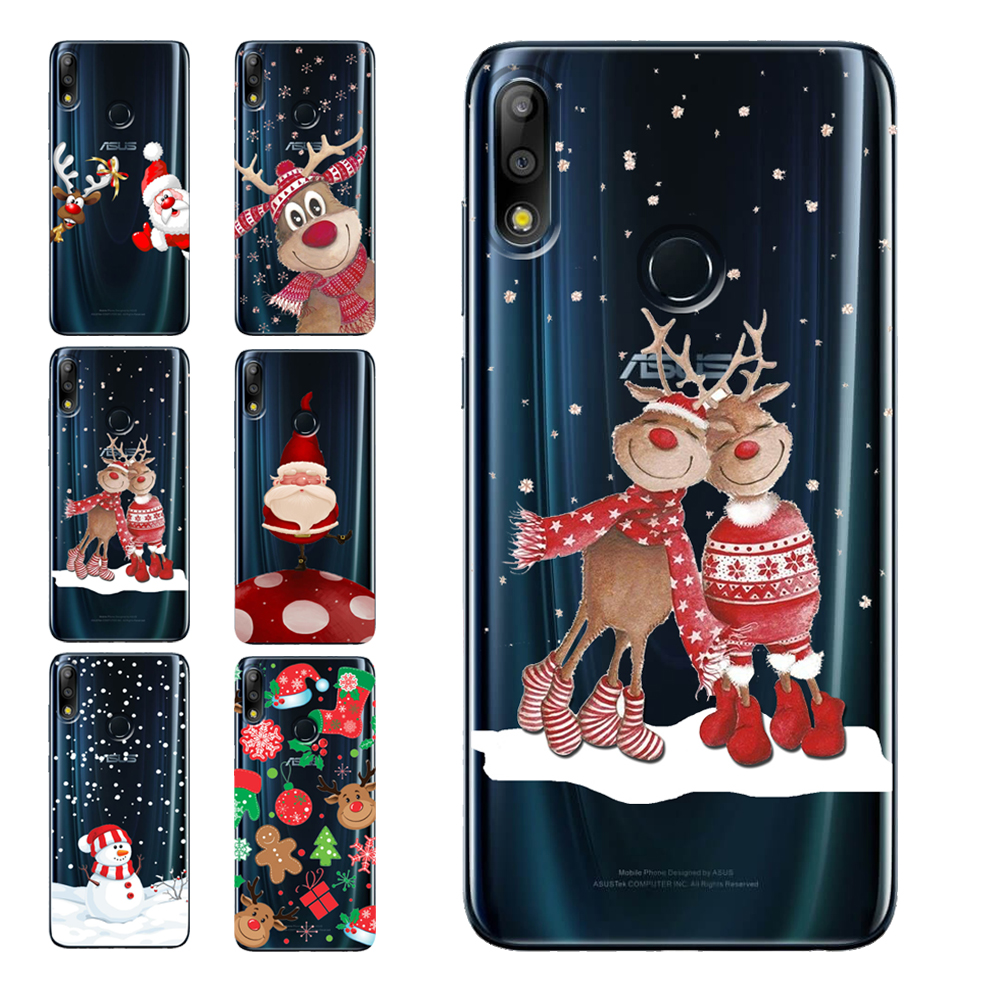 Soft Silicone <font><b>Cases</b></font> Coque Merry Christmas Santa Claus Happy New Year for <font><b>ASUS</b></font> <font><b>Zenfone</b></font> <font><b>6</b></font> <font><b>2019</b></font> 4 Max Pro M1 M2 Live L1 5Z ZS620KL image
