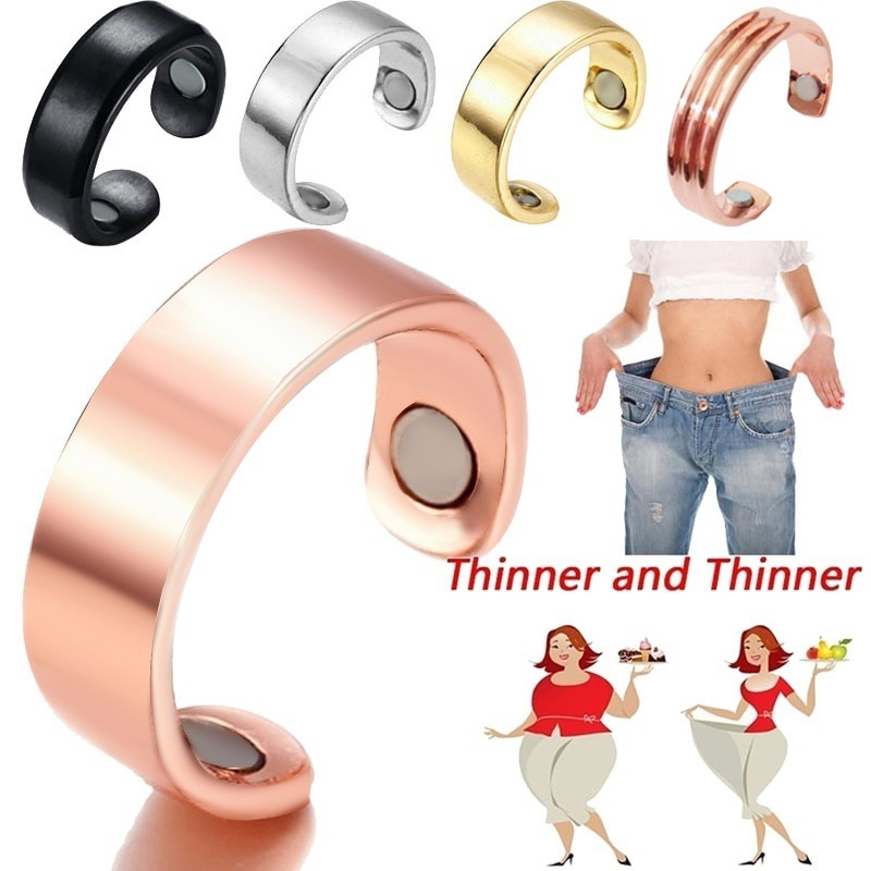 Adjustable Micro Magnetic Anti-Snoring Weight Loss Ring Fat-Burning Slimming Fitness Therapy Healthcare Ring Slimming Product