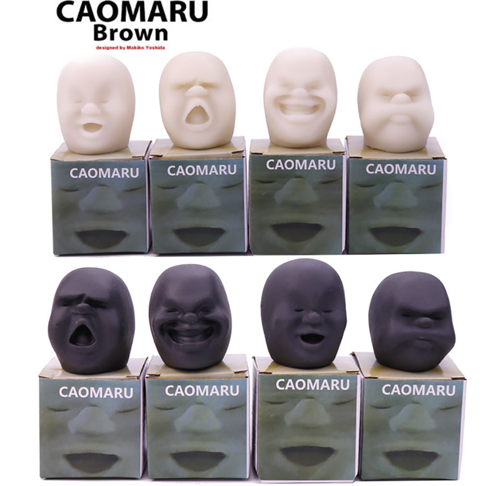 4PCS Anti-stress Squishy Toy Human Face Emotion Vent Ball Stress Relieve Adult Decompression Toys Humorous Face Jokes Funny Gift