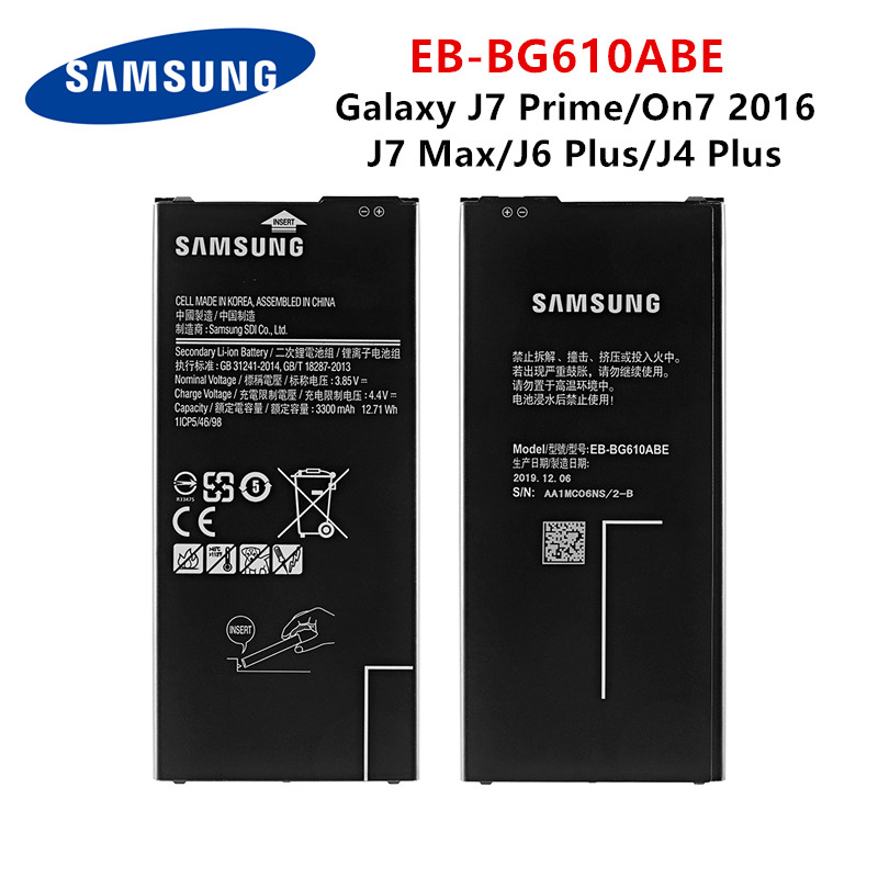 SAMSUNG Orginal EB-BG610ABE 3300mAh Battery For Samsung  Galaxy J6 Plus J6+ SM-J610F / J4+ J4PLUS 2018 SM-J415 / J4 Core J410