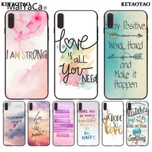 KETAOTAO Positive Good Vibe Only Love Happy Trust for iPhone 5S 6S Plus X XR XS MAX Black Soft Shell Phone Case Rubber Silicone(China)