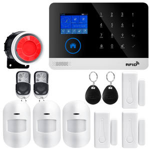 IOS Android APP Remote Control LCD Touch Keyboard Wireless WIFI SIM GSM RFID Home Burglar