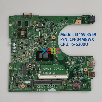 цена на 4M8WX 04M8WX CN-04M8WX for Dell Inspiron 14 3459/3559 14236-1 PWB:CPWW0 w i5-6200U CPU Motherboard Mainboard System board Tested