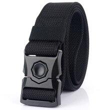 2021 Outdoor Military tactical belt Canvas Army Belt Men Tactical Designer Trousers Strap Long Waist Belt Black Metal Buckle