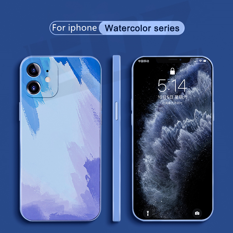 EQZ Official Original Silicone Case For iPhone 11 case For iPhone 12 pro mini XS Max XR X SE 2020 7 8 Plus 12 Pro Max case Cover