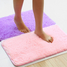 Bath Mat Bathroom Carpet Water Absorption Rug Velvet Shaggy Bathroom Mat Non-slip Bath Pad Bedroom Bathroom Rugs Floor Carpet bathroom carpets absorbent non slip floor mat soft thicken plush shower mat bath bathroom floor foam rug bedroom bedside mat
