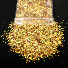 10g/Bag Holographic Laser 1MM Size Colorful Nail Glitter Nail Art DIY Powder Dust
