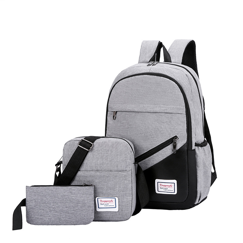 Travel Laptop Backpack School-Bags Women Dos New Sac Casual No Homme Zaino 3-Pc/Set
