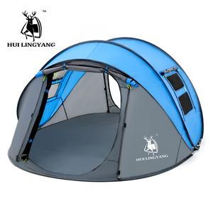 Image 5 - HUI LINGYANG throw tent outdoor automatic tents throwing pop up waterproof camping hiking tent waterproof large family tents