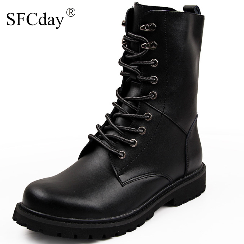 NEW 2019 Military Boots Men Winter Shoes Warm Men Leather Boots Footwear Cowboy Tactical Boots Men Casual Shoes