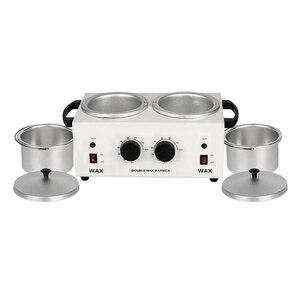 Image 4 - MEIERLI Double Pots Depilatory Wax Warmer Machine Paraffine Wax Heater For Hand And Feet SPA Epilator Hair Removal Tool
