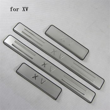 car scuff plates stainless steel door sill strip welcome pedal auto accessories For Subaru XV 2012- 2017 4pcs Car styling door sill strip for hyundai new accent 2018 stainless steel scuff plate welcome pedal car styling sticker auto accessories 4 pcs