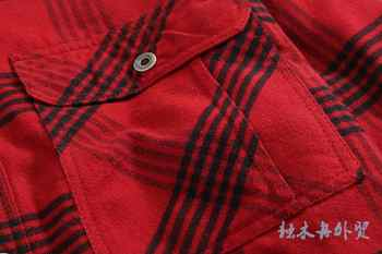 2019 Winter Shirts Men Flannel Plaid Shirt Cotton-padded Thermal Shirts Mens Winter Shirt Camisa Cuadros USA Plus Size M-2XL