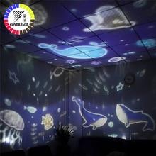 Coversage מסתובב לילה אור מקרן ספין כוכבים שמיים כוכבים מאסטר ילדי ילדים תינוק שינה רומנטי Led USB מנורת הקרנה