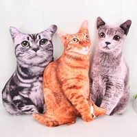 46CM Simulation chat peluche 3D Simulation Cats Pillow Cute Soft Plush Dolls Home Decoration Christmas