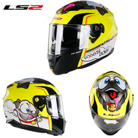 Original LS2 FF328 motorcycle helmet men and women locomotive summer anti fog full helmet cover four seasons universal casque
