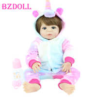 Muñeca Reborn de silicona suave para niña recién nacida, bebé, bebé, juguete de baño clásico, regalo de cumpleaños, 55 CM