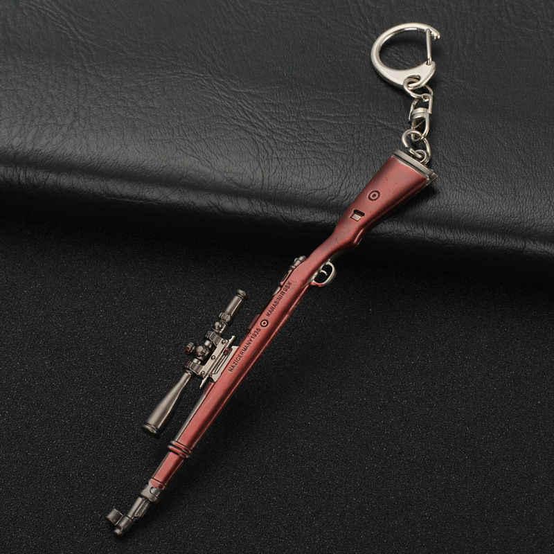 PUBG Armadura Chaveiros Pingentes Bijuterias Helment Mochila AWM 98K SKS AK Gun Arma Modelos Chave Do Carro Cadeias Adereços Cosplay homens Presentes