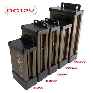12V 24V Power Supply Rainproof Outdoor LED Driver AC 220V to DC 12V 24V Transformer 24 V 100W 500W Adapter Lighting Transformers(China)
