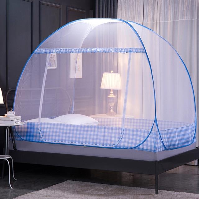 moustiquaire pliante avec support rideau de lit tente pour filles adultes decoration de chambre avec cadre decor de chambre a coucher de maison