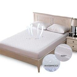 Махровый водонепроницаемый наматрасник анти-клещи дышащая гипоаллергенная защитная подушка для кровати матрас протектор кровать ошибка к...