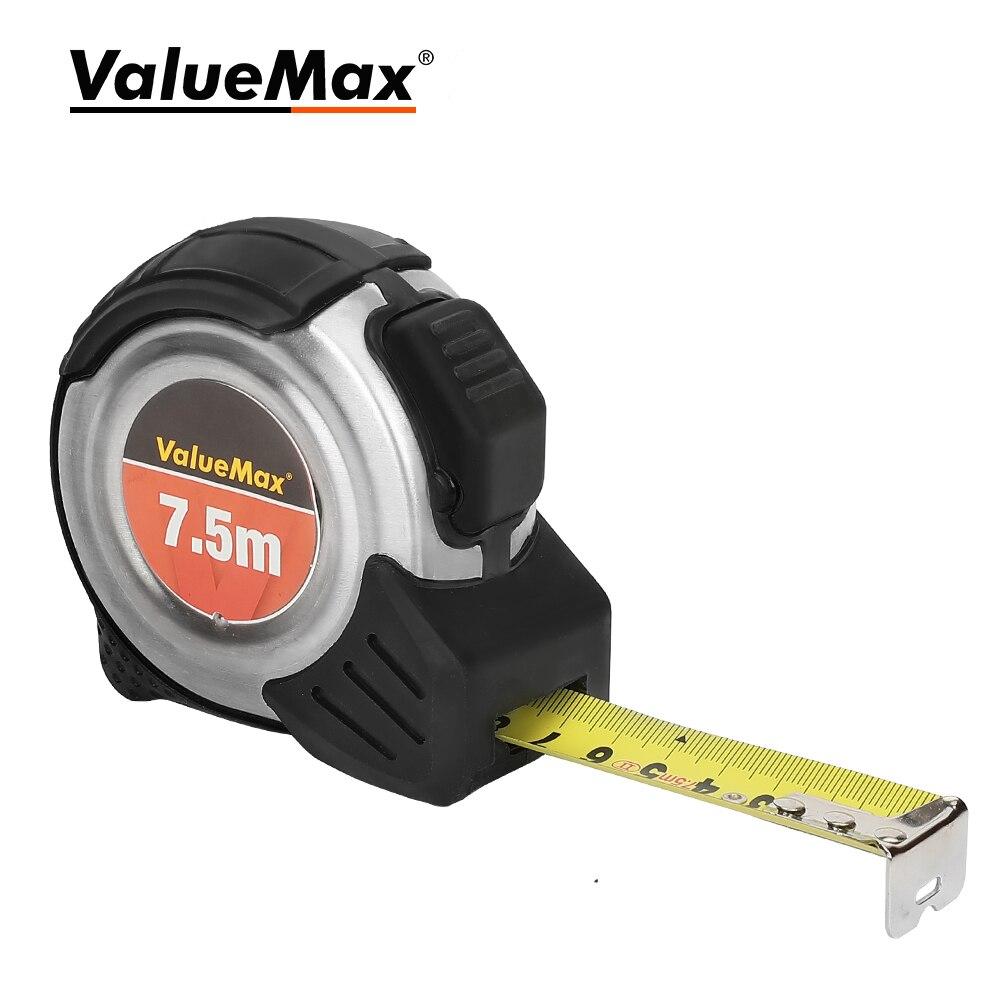 ValueMax 7.5M Portable Steel Tape Measure Distance Measurement Tool Measuring Tape Self-locking Fall Resistant Measuring Tool
