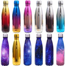 500ML Fashion Water Bottle Vacuum Insulated Thermal Metal Sports Chilly Flask/warm cup Portable Travel Outdoor Thermoses