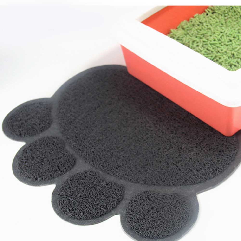 Hot Sale Lovely Cats Litter Trapping Mats Pads 30*40cm PVC Elastic Fiber Mats For Cats Litter Boxes  TY