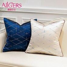 Avigers Роскошные Синие красные бежевые зеленые геометрические чехлы на подушки квадратная декоративная подушка для дома Чехлы для дивана стул спальня