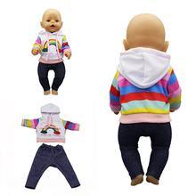 Новинка 2020 подходит для новорожденных 18 дюймовая кукла одежда