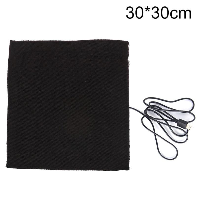 1 шт. большие 30X30 см Подогреваемые прокладки из углеродного волокна с USB