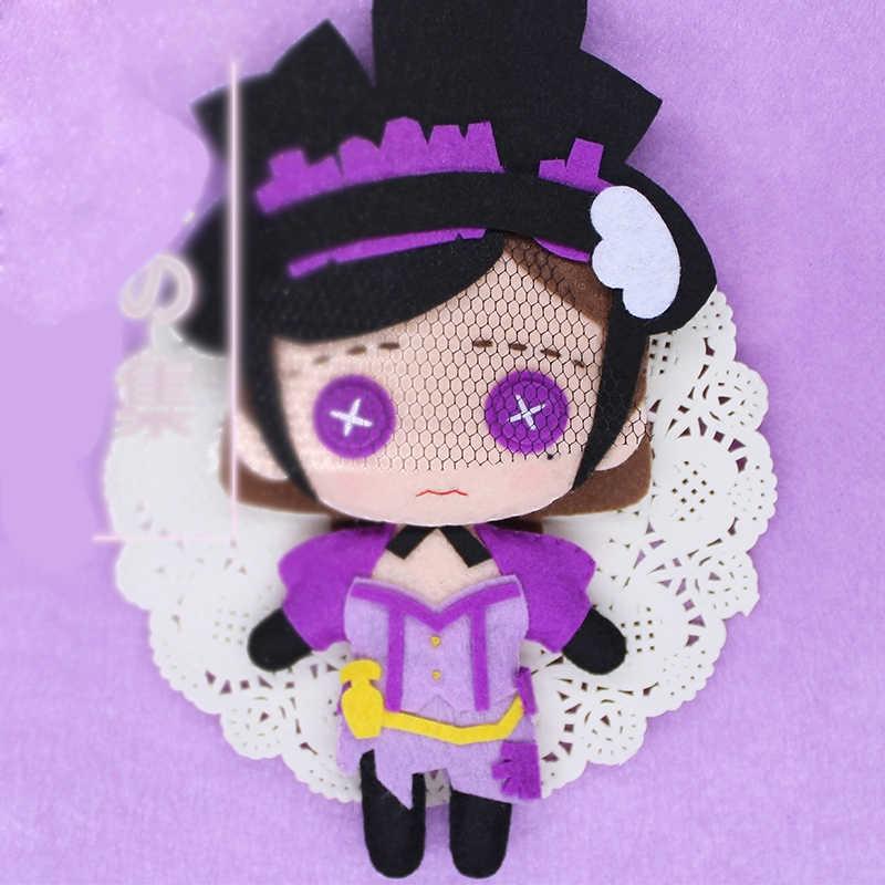 Nuevo juego de Anime identidad V Lucky chico bailarina chica el alma de paraguas DIY juguete hecho a mano llavero bolsa de felpa muñeca regalos 1 Uds
