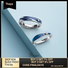Thaya 원래 디자인 s925 스털링 실버 성운 반지 여성을위한 커플 패션 반지 우아한 파인 쥬얼리