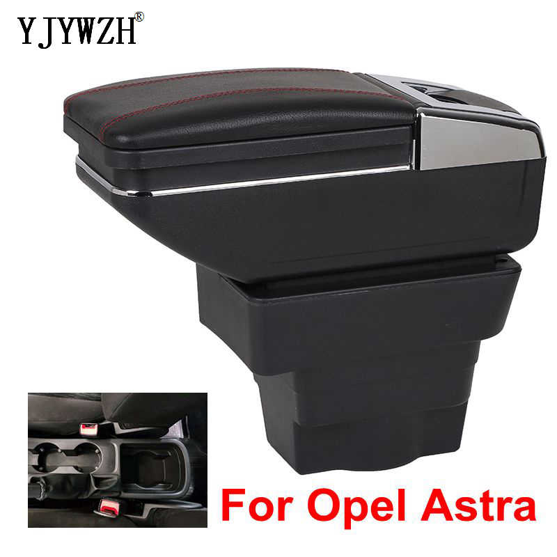 Pour Opel Astra accoudoir boîte Opel Astra J USB charge augmenter Double couche magasin central contenu support de verre cendrier accessoires