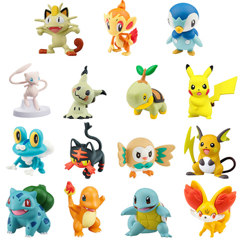 Mini Pokemon Action Figure Anime Pocket Monster Model Gift Toy Brionne Cosmog Leafeon Mareanie Marshadow Meowth Metang Mimikyu image