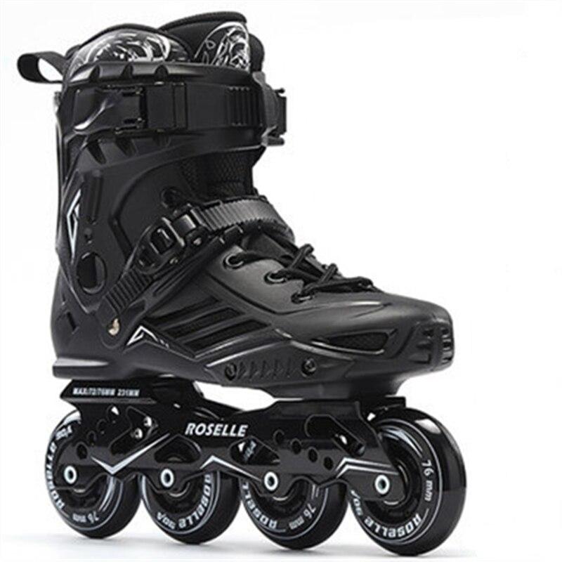 Roselle Roller Skates Men Women Inline Skating Shoes High Quality Sliding Freestyle Skating Patins 4 Wheels Professional
