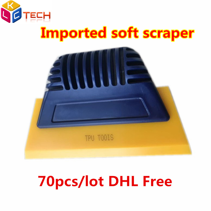 DHL 70pcs Car Cleaning Tool  Scraper Tool Squeegee Vinyl Car Wrap Window Tint Scraper With Scratch-free Suede Felt Car Wrapping
