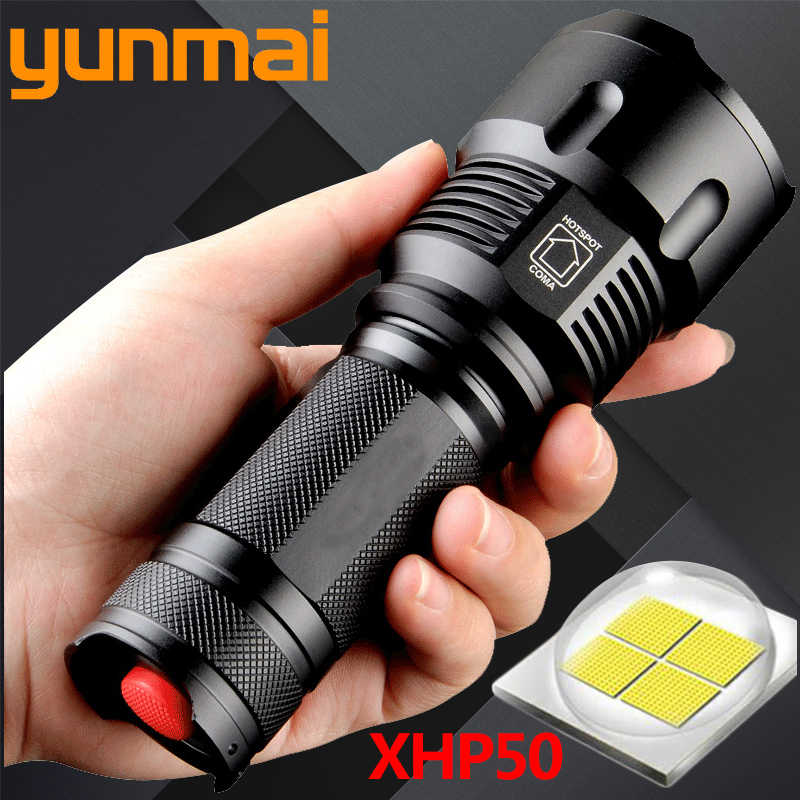XHP50 1006 Powful Cree LED Taschenlampe Wasserdichte Zoomable Tragbare Camping Licht Power 26650 18650 AA batterie