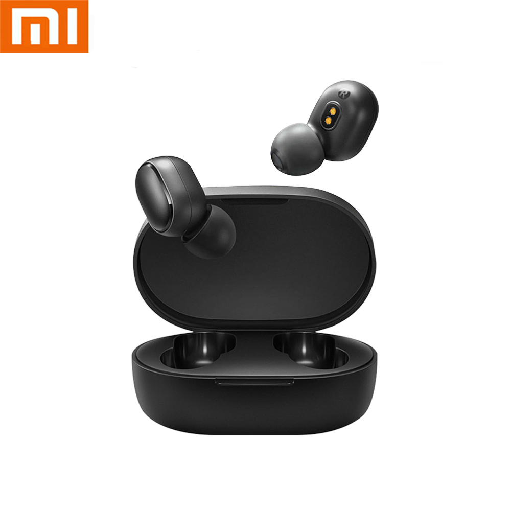 headphones Original Xiaomi Redmi Airdots TWS wireless bluetooth earphone xiaomi earphone with mic handsfree Earbuds HD sound image