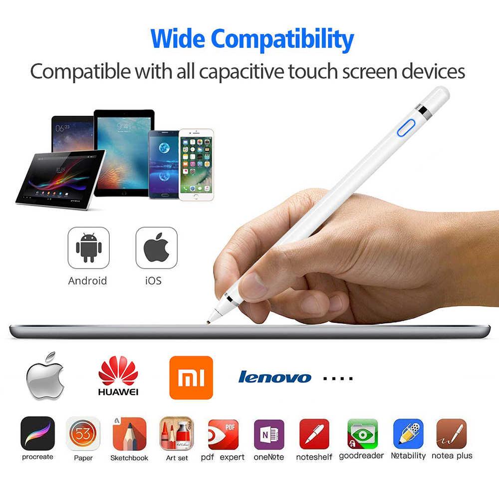 Material escolar e escritório, caneta stylus para apple ipad pro 11 12.9 10.5 9.7 apple smart touch lápis 2 para air 3 mini 4 5 huawei tablet ipad 10.2 acessórios