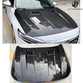 High Quality Carbon Fiber Engine Hood Cover With Holes Car Styling Fits For Honda Accord 10th 2018 Free Shipping