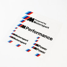 Car-Styling ///M Performance Power Motorsport Car Stickers And Decals Kit For X1 X3 X5 X6 3series 5 Series 7 Series(China)