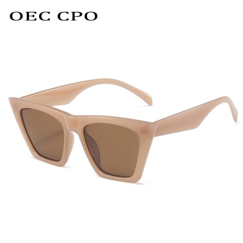 OEC CPO новые модные солнцезащитные очки кошачий глаз женские модные брендовые дизайнерские солнцезащитные очки женские трендовые оттенки ко...