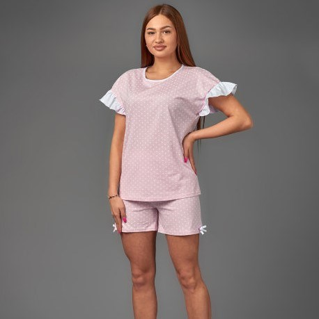 Atoff Home Women's Pajamas ZHP 040 (peas On Pink)