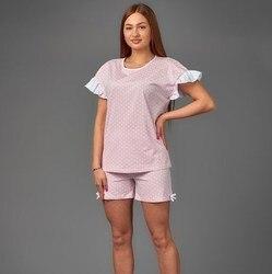 Pijama para mujer Atoff home ZHP 040 (guisantes en rosa)