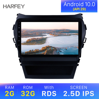 Harfey 2Din Car GPS Multimedia Player Radio For 2013 2014 2015 2016 2017 Hyundai IX45 SantaFe 9 Android 10.0 Head Unit image