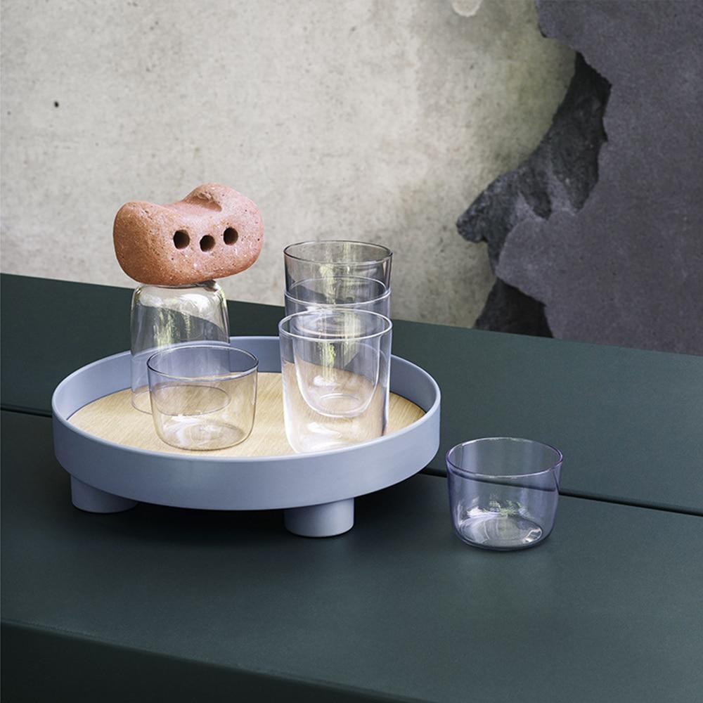 Поднос для хранения чая и еды, круглая настольная посуда для ювелирных изделий и мелочей, подходит для домашнего декора-2