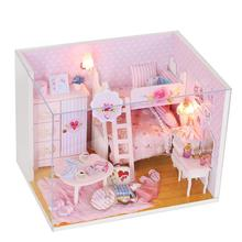 Doll house model toys role play elegant house  furnishing Pink Girl home room children toys kids educational toys doll house model toys role play elegant house furnishing articles flower town room children toys kids educational toys
