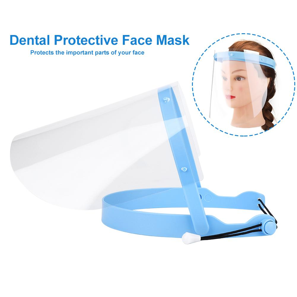 1Pcs Dustproof Anti-Fog Visor + 1 Shelf Films Frame Dental Protective Facial Mask Set Detachable Dental Mask Replacement Covers